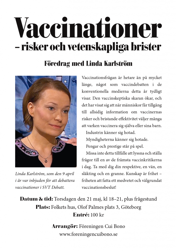 Linda Karlström i Göteborg den 21 maj_A4-affisch